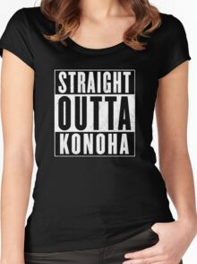 straight outta konoha  Women's Fitted Scoop T-Shirt
