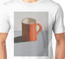 "Orange Mug-Acrylic on canvas-14""H by 11""W Unisex T-Shirt"