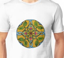 Leaf Flower Celtic Knot Mandala Original Signed Print Spiritual Art Unisex T-Shirt