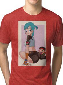 Bulma & Yamcha Tri-blend T-Shirt