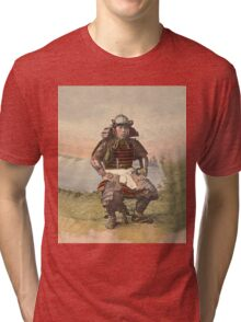 Samurai warrior in armour - 1900 Tri-blend T-Shirt