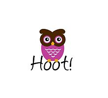 Pink Owl Hoot! by umeimages