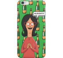 Linda Belcher Wine Pattern Green iPhone Case/Skin