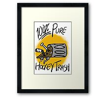 100% Pure Hockey Trash (Yellow) Framed Print