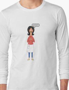 Linda Belcher Wine Pattern Red Long Sleeve T-Shirt