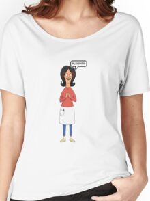 Linda Belcher Wine Pattern Red Women's Relaxed Fit T-Shirt