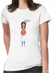 Linda Belcher Wine Pattern Red Womens Fitted T-Shirt
