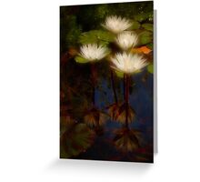 Angelic lilies Greeting Card