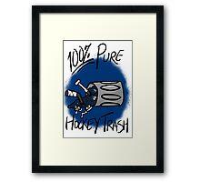 100% Pure Hockey Trash (Blue) Framed Print