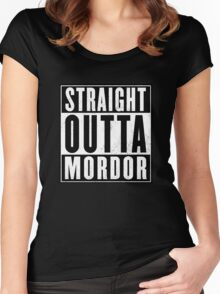 Lord of the rings - Mordor Women's Fitted Scoop T-Shirt
