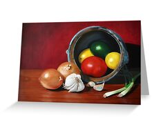 Fruits and Vegetables Greeting Card