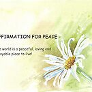 Affirmation for PEACE by Maree Clarkson