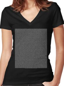 Bee Script All Movie in 1 - Black Women's Fitted V-Neck T-Shirt