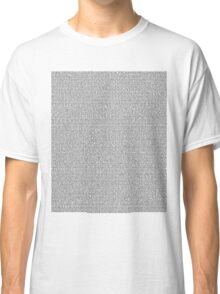 Bee Script All Movie in 1 - White Classic T-Shirt