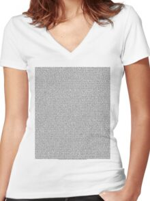 Bee Script All Movie in 1 - White Women's Fitted V-Neck T-Shirt