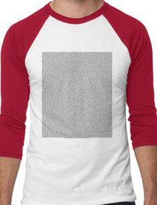 Bee Script All Movie in 1 - White Men's Baseball ¾ T-Shirt