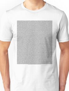 Bee Script All Movie in 1 - White Unisex T-Shirt