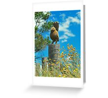 Birdy Sculpture Greeting Card