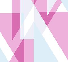 Pink, Lilac & Blue Triangles  by simplepaperplan