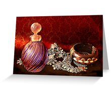 Still life, the perfume bottle Greeting Card