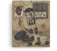 Asylum Par: The Motor Shop - zombie girl Canvas Print