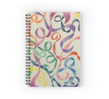 Rainbow Ribbons Spiral Notebook