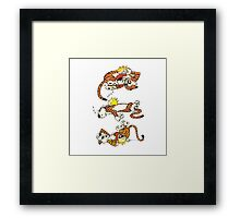 Calvin and Hobbes Cute  Framed Print