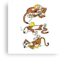 Calvin and Hobbes Cute  Canvas Print
