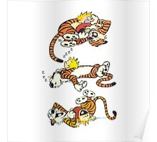 Calvin and Hobbes Cute  Poster