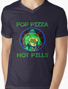Turtle Pop Pizza Not Pills Mens V-Neck T-Shirt