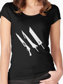 Final Fantasy Swords Women's Fitted Scoop T-Shirt