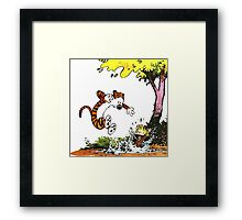 Calvin and Hobbes Playground Framed Print
