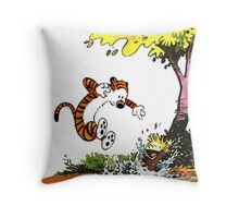 Calvin and Hobbes Playground Throw Pillow