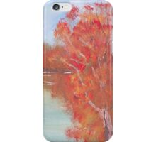Paperbarks on the bank. iPhone Case/Skin