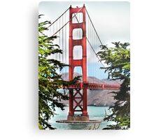 A Peak at the Golden Gate Bridge  Metal Print