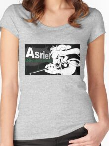 Asriel Smash Bros Splash Card Women's Fitted Scoop T-Shirt