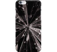 black white leaf iPhone Case/Skin