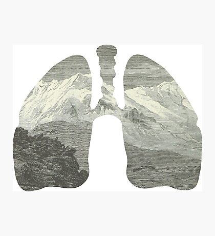 Mountains in my lungs Photographic Print