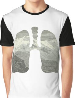 Mountains in my lungs Graphic T-Shirt