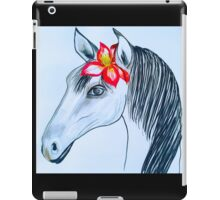 horse with pink Flower iPad Case/Skin
