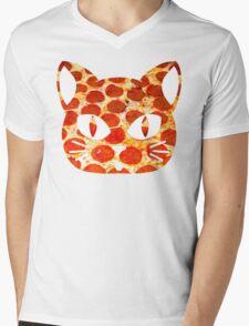 Pizza Cat Mens V-Neck T-Shirt