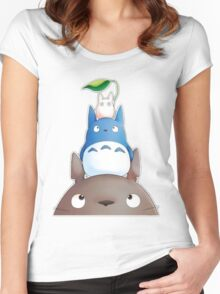 cute totoro  Women's Fitted Scoop T-Shirt