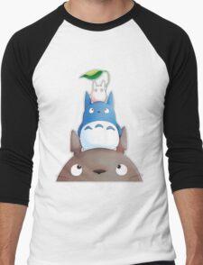 cute totoro  Men's Baseball ¾ T-Shirt