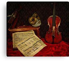 A musical night Canvas Print