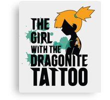 The girl with the dragonite tattoo Canvas Print