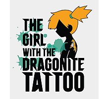 The girl with the dragonite tattoo Photographic Print