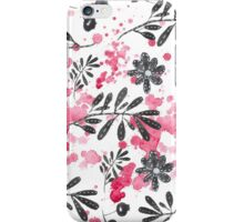 black pattern with drops  iPhone Case/Skin
