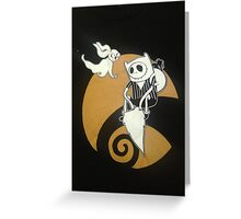 adventure time with jack skellington nightmare before christmas Greeting Card