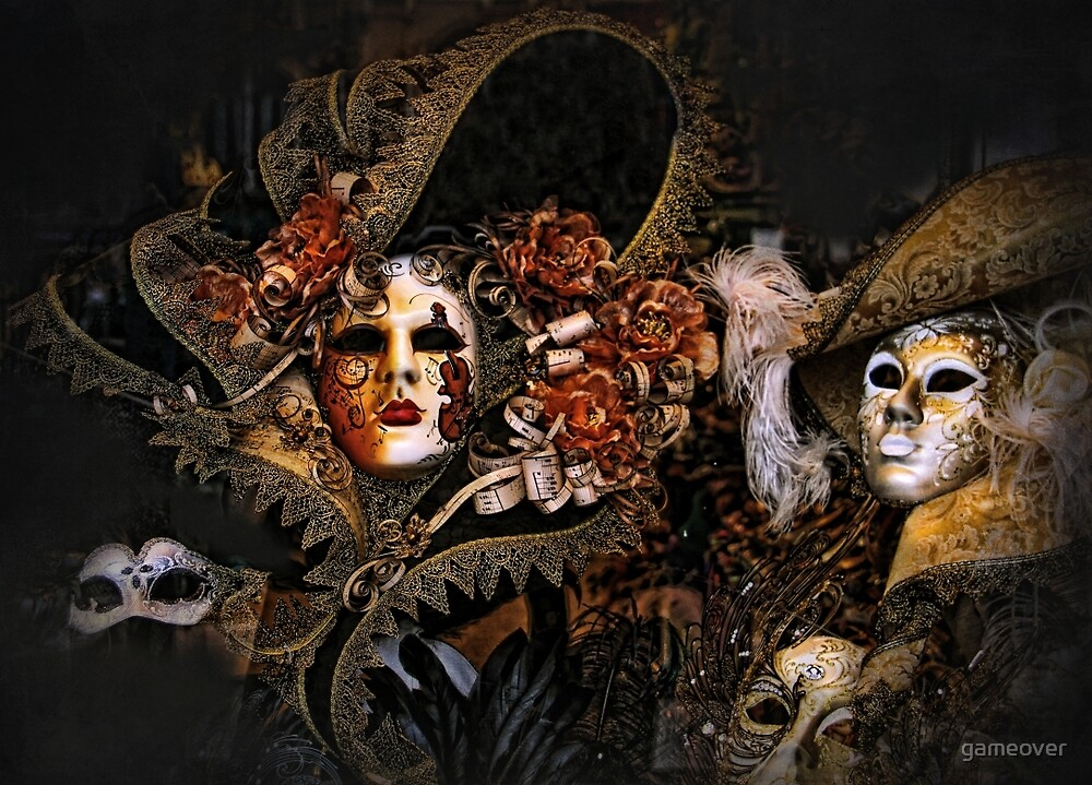 Venice Carnival masks by Luisa Fumi