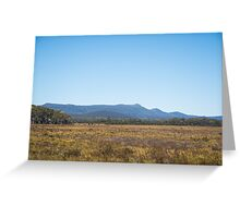Grass to Mountains Greeting Card